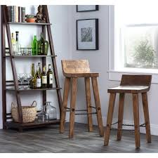 30 inch bar stools with back. Kosas Home Tam Rustic Brown Elm Wood And Iron Low Back 30-inch Bar Stool 30 Inch Stools With