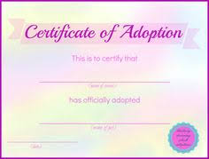 Pet Adoption Certificate Template Pet Adoption Certificate Template Magdalene Project Org