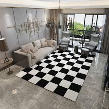 europe carpets large bedroom area rugs washable mat black white rectangle carpet living room geometric decoration