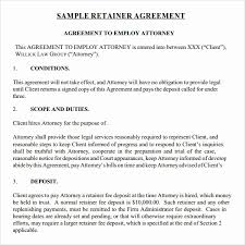 Example Of An Agreement Download Monthly Retainer Agreement Sample Template Bonsai