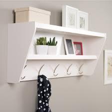 white wood wall organizer white polished teak wood entryway shelf with chrome metal coat rack