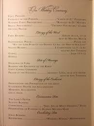 Catholic Wedding Mass Program Catholic Wedding Program Nuptial Mass Wedding Detroit Sweetest Heart