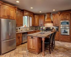Rustic Beech Cabinets Kitchen Artistic Rustic Kitchen Cabinets With Regard To Rustic