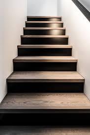 dark basement stairs. Fine Basement Black  Wood Stair Design On Dark Basement Stairs