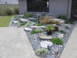 lush landscaping ideas. Amazing Rock Front Yard Design Exterior Great Of The That Decorated With Grey In House Can Lush Landscaping Ideas Y