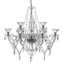 emma luxurious 9 light crystal glass chandelier