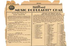 Billboard Charts By Year And Month Happy Birthday Billboard Charts On July 27 1940 The