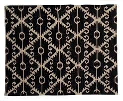 this black and white rug is astonishing because of the peculiarity of the woven rug design