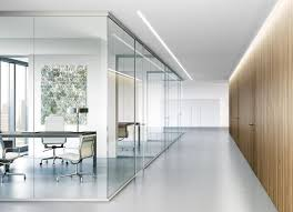 glass wall office. possibly too much glass wall systems lama partition system office l