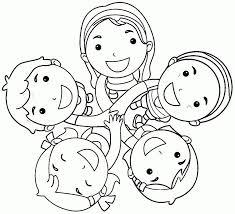 Kleurplaat Vriendschap Kinderboekenweek 2018 Preschool