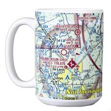 Custom U S Aeronautical Chart Coffee Mug