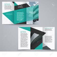 2 Folded Brochure Template Tri Fold Business Brochure Template Two Sided Template Design