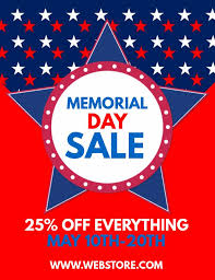 sale flyers memorial day sale flyer design click to customize retail flyer