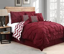 image of red down comforter oversized king