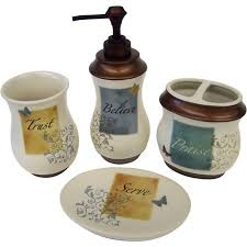 bathroom accessories set walmart. butterfly blessings 4pc bath accessory set bathroom accessories walmart d