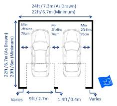 double garage dimensions two doors