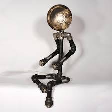 view in gallery plumbing pipe lighting fixtures human figure 1 23 awesome plumbing pipe furniture designs