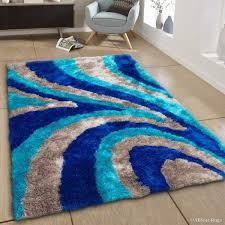 allstar rugs hand tufted blue brown contemporary area rug