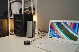 jbl desktop speakers. my everyday desktop speakers, jbl lsr305, do not look anything near as good on desk bose. they are also much bigger and around 50 euro more expensive. jbl speakers
