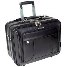 leather wheeled laptop overnight bag black double tap to zoom