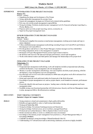 Project Management School Boston Infrastructure Manager Resume