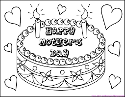 Small Picture Happy Mothers Day Coloring Page Link opens to mothers day