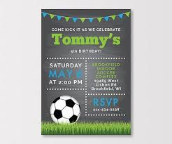 Soccer Party Invitation Template Soccer Themed Birthday Party Invitations Best Of Soccer