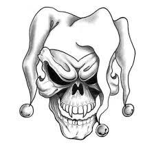 A semi traditional drawing design. Joker Skull Tattoo Design Joker Tattoo Design Skull Tattoo Design Skulls Drawing