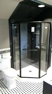 semi frameless shower door atlas doors custom company angle in bronze finish installation cost