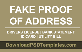 Id Fake Address Card drivers Proof Of Passport License