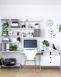 Simple small home office design Narrow 99xonline 17 Stylish Scandinavian Office Designs For Small Homes