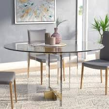 round glass dining table. Gosta Round Glass Dining Table A