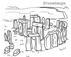 Stonehenge Coloring Page At Getdrawingscom Free For Personal Use
