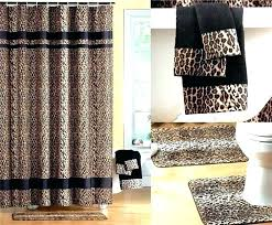 animal print bathroom set bath rug sets