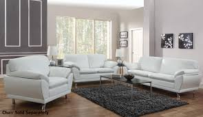 White Leather Chairs For Living Room Coaster Robyn 504541 504542 White Leather Sofa And Loveseat Set