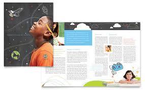 school brochure design ideas education foundation school brochure template design
