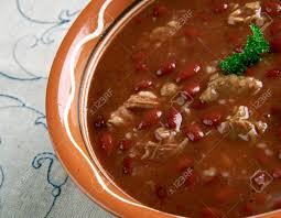 Marvelous Bableves   Jókai Bohnensuppe. Ungarische Küche Standard Bild   46921978