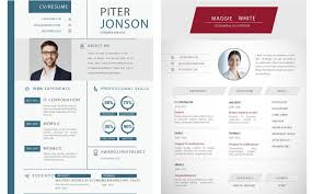Resume One Page 65 Eye Catching Cv Templates For Ms Word Free To Download