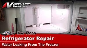 refrigerator diagnostic repair water leaking kenmore sears whirlpool kitchenaid roper you