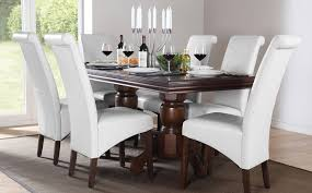 dark wood dining table dining room white dining table with dark wood