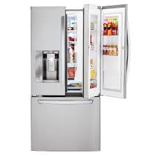33 inch wide french door refrigerator. LFXS24663S LG French Door Refrigerator - 33 Inch Stainless Steel Wide A