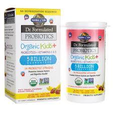 garden of lifedr formulated probiotics organic kids strawberry banana
