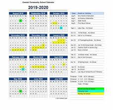 2019 2020 Calendar Coastal Community School