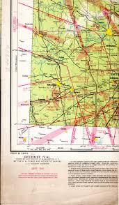 Map Detroit Michigan V 8 Sectional Aeronautical Chart