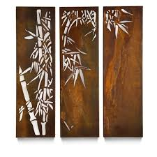 garden metal wall art sydney brushed stainless steel