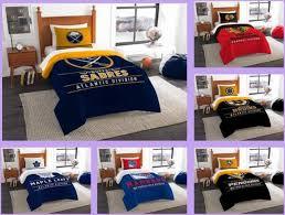 nhl licensed 2 piece twin comforter sham bed set in a bag choose your