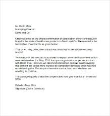 notice of cancellation letter letter of contract cancellation