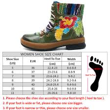 Socofy Size Chart Us 46 14 50 Off Socofy Bohemian Ankle Boots Women Shoes Genuine Leather Flower Vintage Zip Boots Winter Shoes Woman Casual Spring Autumn Botas In