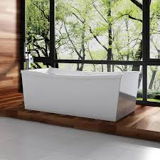 ove decors terra 70 in gloss white with back center drain