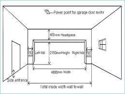 double garage door dimensions standard double garage door size single car merements double garage door width